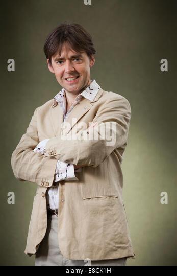 Robert Wilton, Autor von historischen Romanen, auf dem Edinburgh International Book Festival 2014. Edinburgh, Schottland. Stockbild
