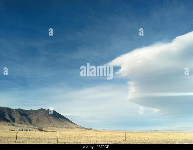 Kulturlandschaft, Wyoming, America, USA Stockbild