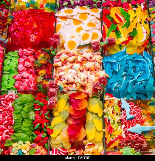 Nahaufnahme von Süßwaren Stockbild