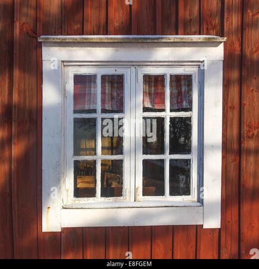 Nahaufnahme der Kabinenfenster Stockbild