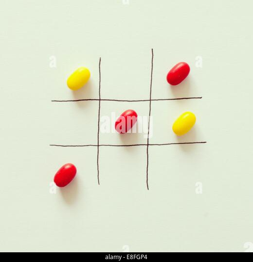 Tic Tac Toe-Spiel Stockbild