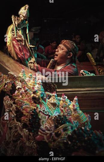 Indonesien, West-Java, Bandung, Puppet Master Stockbild