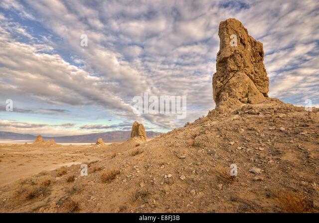 USA, California, Trona, Anzeigen der Pinnacles National Naturdenkmal Stockbild