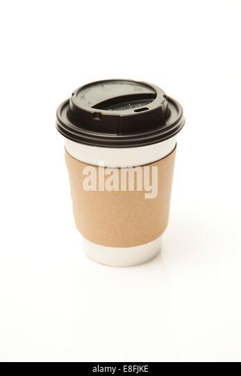 Einweg-Tee oder Kaffee-Obertasse Stockbild