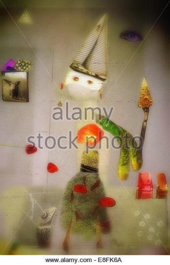 Abstrakte Spielzeugfigur Stockbild