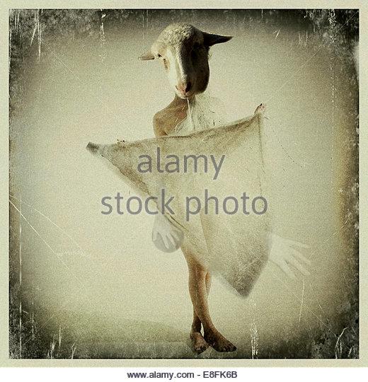 Abstraktes Bild von Frau Stockbild