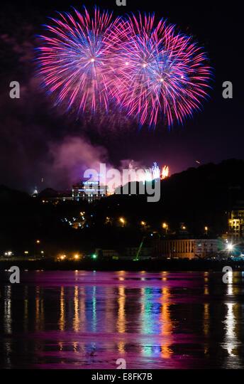 Ukraine, Kiew, Independence Day feiern Stockbild