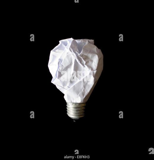 Konzeptionelle Glühbirne Stockbild