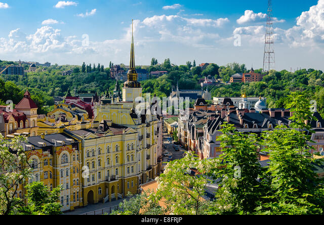 Ukraine, Kiew, Stadtbild an sonnigen Tag Stockbild