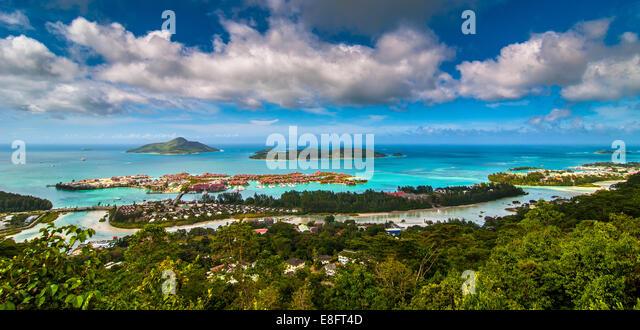 Seychellen, Victoria, Bild des Ferienortes Stockbild