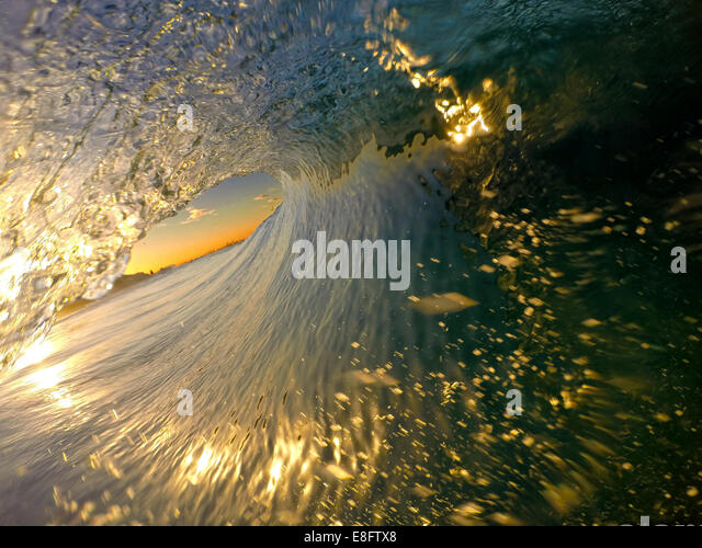 Australien, Gold Coast, Tugun Beach, Blick auf Welle Stockbild