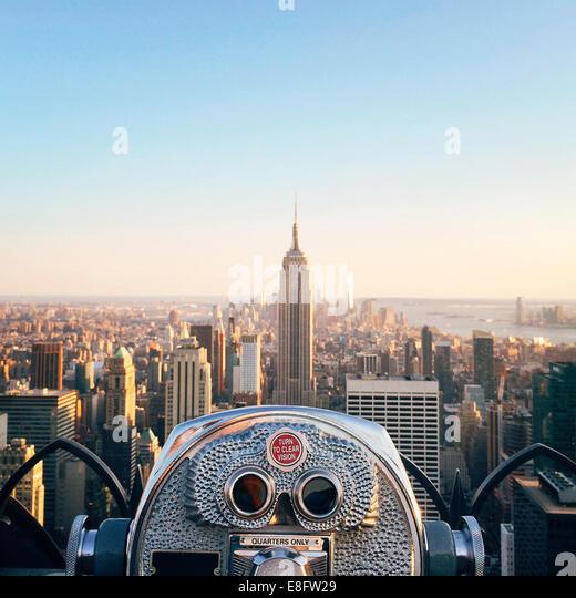 USA, New York State, New York City, Blick auf Empire State Building Stockbild