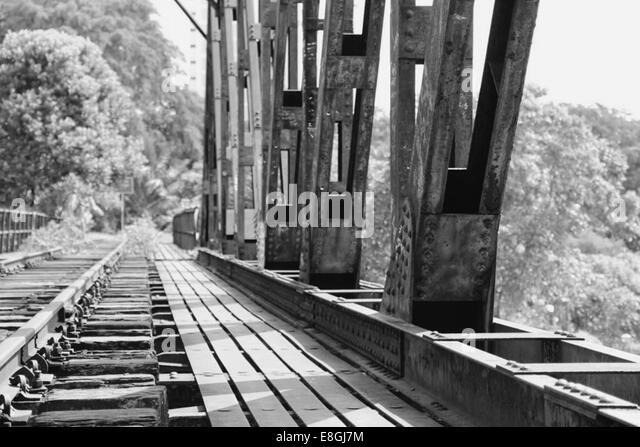 Bahngleis aufgegeben Stockbild