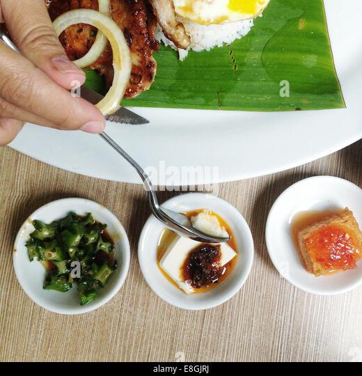 Malaysia, Kuala Lumpur, traditionelle asiatische Küche Stockbild