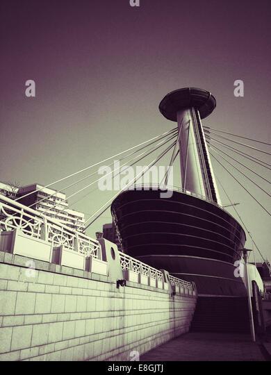 China, Tianjin, Blick auf moderne Gebäude Stockbild