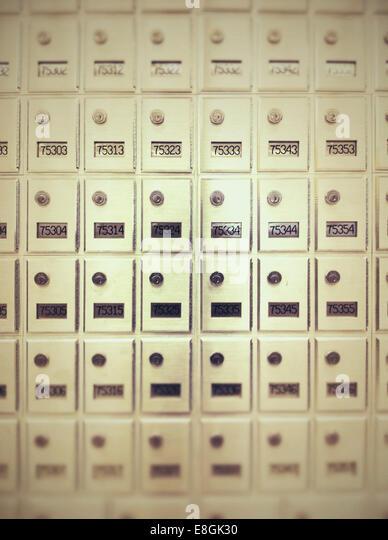 E-Mail Postfächer Stockbild
