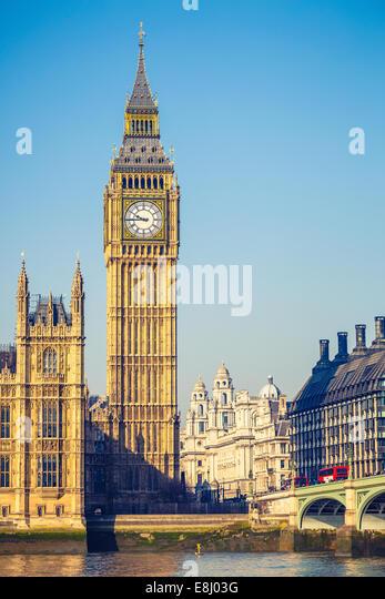 Big Ben-Tower in London Stockbild