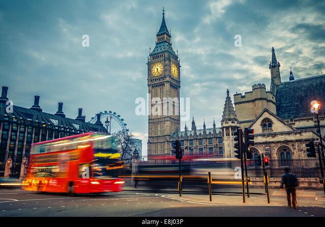 London am frühen Morgen Stockbild