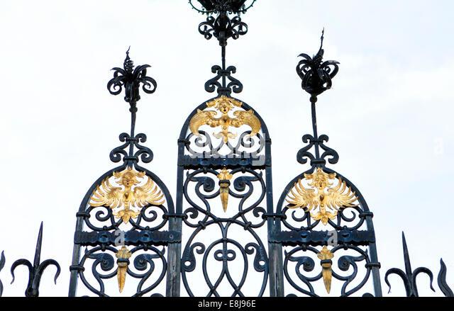 Eingangsportal zum Schloss Bueckeburg Palast, Bueckeburg, Niedersachsen, Deutschland, Europa, Stockbild