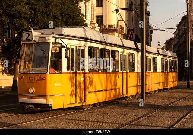Straßenbahn Auto, Lajos Kossuth Platz, Budapest, Ungarn Stockbild