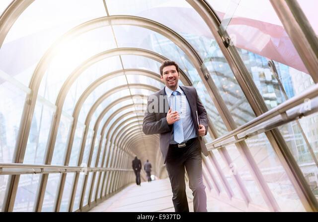 Unternehmer ausgeführt Stockbild