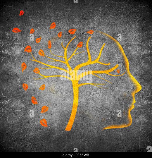 Zeiten Vergehen Konzept digitale Illustration orange auf schwarz Stockbild