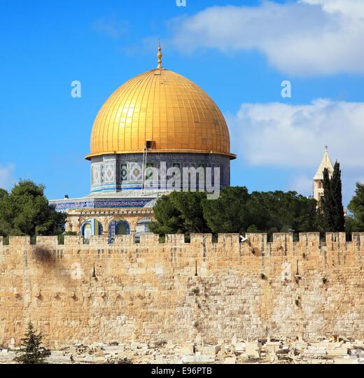 Al-Aqsa-Moschee auf dem Tempelberg der alten Stadt, Jerusalem Stockbild