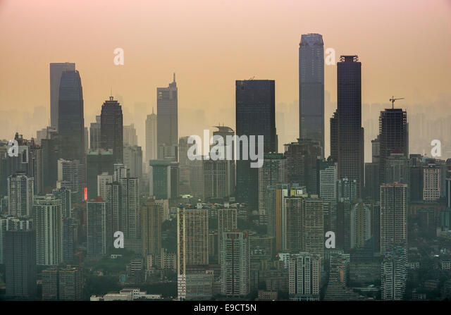 Skyline von Chongqing, China. Stockbild