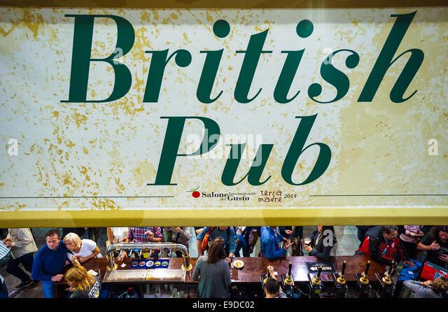 Lingotto Fiere, Turin, Italien. 25. Oktober 2014.  Salone del Gusto e Terra Madre - britische Pub-Credit: wirklich Stockbild