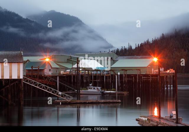 Werften und Ocean Beauty Seafoods Cannery, Nordhafen, Petersburg, Alaska, USA Stockbild