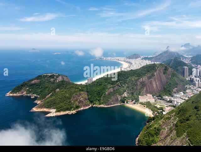 Hafen und die Skyline von Rio De Janeiro Brasilien Stockbild