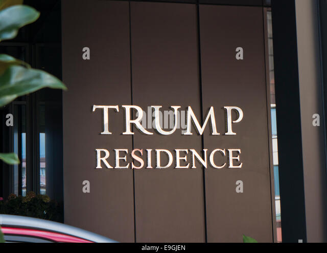 Trump-Residence in Istanbul Stockbild