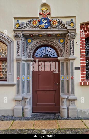 Portal des Hauses in Görlitz, Deutschland Stockbild