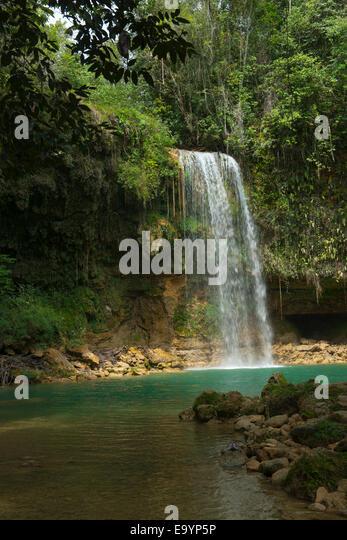 Dominikanische Republik, Osten, Wasserfall Salto de socoa an der Autopista del Nordeste von nagua / Santo Domingo Stockbild