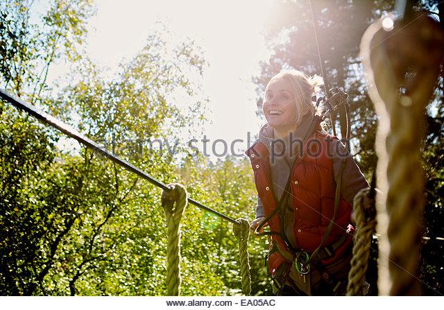 Outdoor-Sport und Abenteuer Baum klettern Stockbild