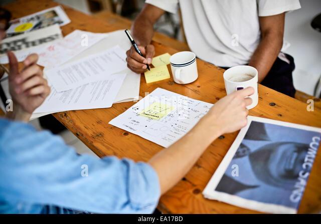 Grafik-Designer brainstorming Stockbild