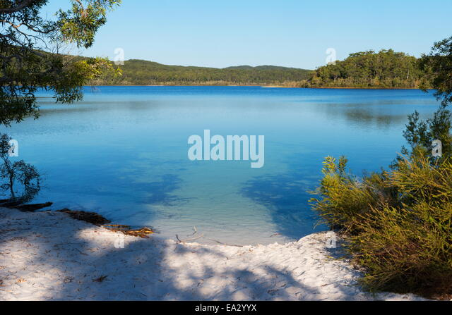 Lake McKenzie, Fraser Island, UNESCO-Weltkulturerbe, Queensland, Australien, Pazifik Stockbild