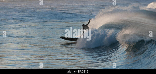 Australien, New South Wales, Sydney, Surfer nachmittags Stockbild