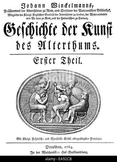 Johann Joachim Winckelmann, 1717-1768, ein deutscher Archäologe, Antiquar und Kunst-Schriftsteller der Frühaufklärung, Stockbild
