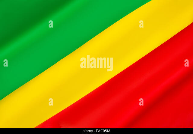 Flagge der Republik Kongo Stockbild