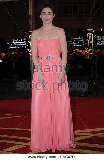 Französische Schauspielerin Julie Gayet Besuch beim Festival of Film Marrakesch. © William Stevens Stockbild