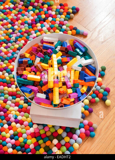Legos und colorfu Stockbild