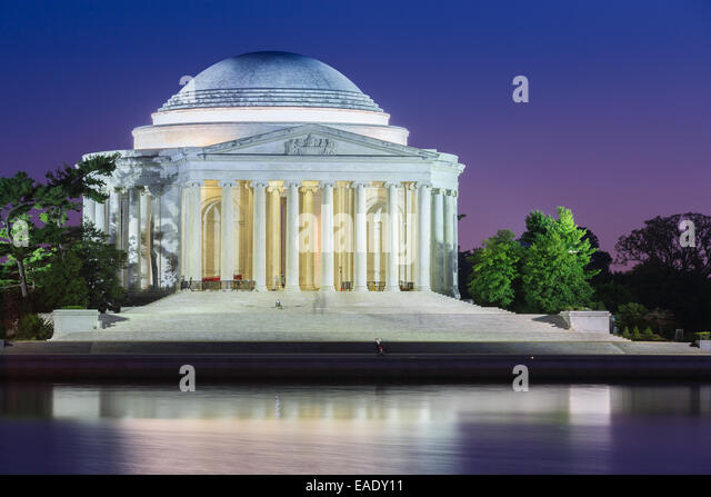 Thomas Jefferson Memorial ist eine presidential Memorial in Washington, D.C., Thomas Jefferson gewidmet. Stockbild