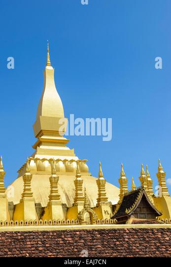 Die Goldene Pagode Pha, die Luang Stockbild
