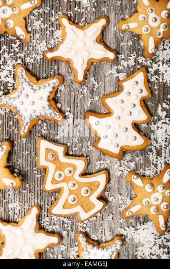 Lebkuchen-Cookies-Muster Stockbild