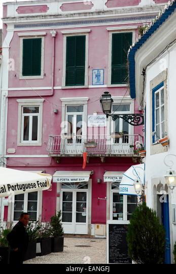 Straßenbild Cascais, Portugal Stockbild