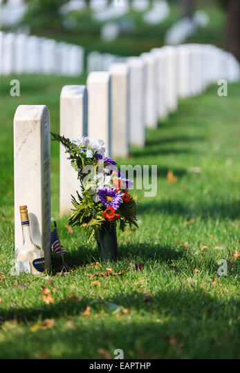 Nationalfriedhof Arlington, Virginia, USA Stockbild