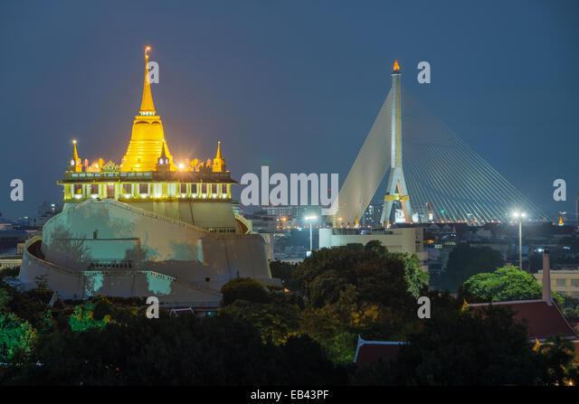 Der Golden Mount. Wahrzeichen von Bangkok, Thailand Reisen Stockbild