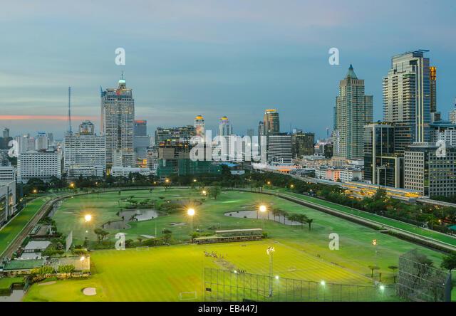 Park in der Stadt, Bangkok Thailand Stockbild