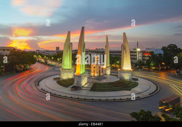 Demokratie-Denkmal in Bangkok, Thailand - Stock-Bilder